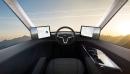 L'intérieur du camion-remorque tout électrique Tesla Semi.... | 17 novembre 2017