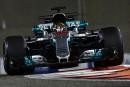 Le Britannique Lewis Hamilton, au volant de sa Mercedes, a... | 24 novembre 2017