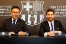 Lionel Messi avec le FC Barcelone jusqu'en 2021