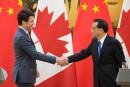 Trudeau signe trois accords commerciaux en Chine