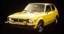SA PREMIÈRE VOITURE -Une authentiqueHonda Civic jaune 1976, achetée en... | 5 décembre 2017