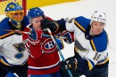 Blues 4 - Canadien 3 (pointage final)