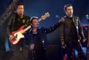 Johnny Hallyday lors d'un spectacle au Stade de France en... | 5 décembre 2017