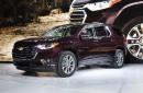 Le Chevrolet Traverse durant sa présentation au Salon de l'auto...   6 décembre 2017