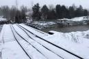 Un pont ferroviaire s'effondre à Sherbrooke