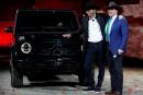 L'acteur Arnold Schwarzenegger et le PDG de Daimler, Dieter Zetsche,... | 15 janvier 2018