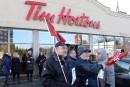 Les manifestations contre Tim Hortons s'étendent hors de l'Ontario