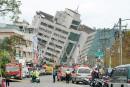 Taïwan: un séisme renverse des immeubles, au moins 7morts