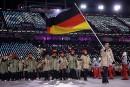 Eric Frenzel est le porte-drapeau de la délégation de l'Allemagne.... | 9 février 2018