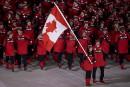 Les danseurs sur glace et porte-drapeaux canadiens Tessa Virtue et... | 9 février 2018