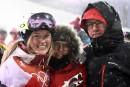 Justine Dufour Lapointe et ses parents Johane Dufour et Yves... | 11 février 2018
