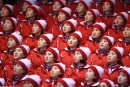 Les meneuses de claque nord-coréennes suscitent le malaise