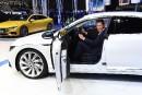 Herbert Diess, le patron de la marque Volkswagen, photographié au... | 14 février 2018