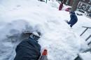 L'art deconstruire unfortde neige
