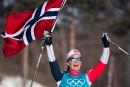 La fondeuse Marit Bjoergen devientl'athlète la plus titrée des Jeux d'hiver