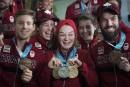 Les athlètes canadiens font un retour triomphal à Montréal