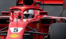 Sebastian Vettel au volant de sa Ferrari.... | 27 février 2018
