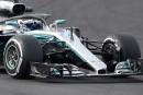 Valtteri Bottas au volant de sa Mercedes.... | 27 février 2018
