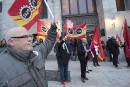 Manifestation contre le système Phénix à Montréal