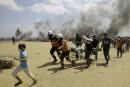 Manifestation d'Arabes israéliens contre la «guerre contre Gaza»