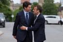 Macron et Trudeau disent leur soutien à un «multilatéralisme fort»