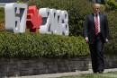 G7: Trump arrive en retard et manque le comité d'accueil