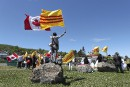 À La Malbaie, plus de journalistes que de manifestants de droite