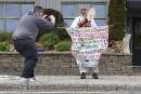 Un moine japonais venu pour le G7 attire les regards à LaMalbaie