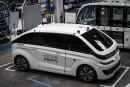 Un taxi sans chauffeur Autonom Cab à l'usine Navya de... | 12 juin 2018