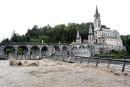 Le sanctuaire de Lourdes touché par les inondations