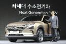 Le premier vice-président de Hyundai, Lee Kwang-guk pose avec le... | 20 juin 2018