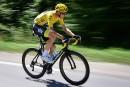 Chris Froome, blanchi par l'UCI, au départ du Tour de France