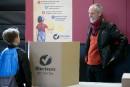 Le candidat de Québec solidaire Vincent Marissal a voté dans... | 1 octobre 2018