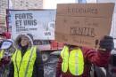 Libre-échange: les producteurs laitiers manifestent