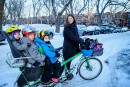 Transport urbain: vélo, boulot,marmots