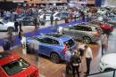 Les premiers arrivants juste après l'ouverture du Salon de l'auto... | 21 janvier 2019