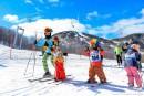 Le printemps sur les pentes de ski