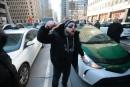La grève des chauffeurs de taxi à son point culminant