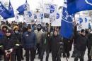 Les syndiqués d'ABI marchent jusqu'à Québec