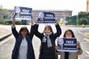 Des élues de France et d'Espagne manifestent leur soutien à Assange