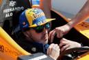 Fernando Alonso se fait une petite frayeur lors des essais de l'Indy 500