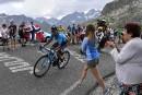 Tour de France: Nairo Quintana gagne la première étape des Alpes