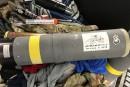 Il voyage avec un lance-missiles dans sa valise, «un souvenir du Koweït»