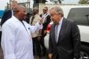 Le secrétaire général de l'ONU dans une zone touchée par l'Ebola en RDC