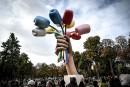 Le Bouquet de tulipes de Jeff Koons dévoilé à Paris