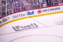 Marketing-publicité: Fuel figée sur la glace du Centre Bell