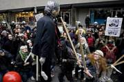 Manifestation contre la visite de Bush à Montréal