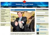 Site web du ministère des Finances