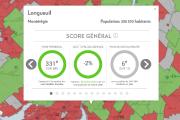 Carte interactive du palmarès des municipalités