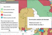 Carte du radon dans les écoles du Québec
